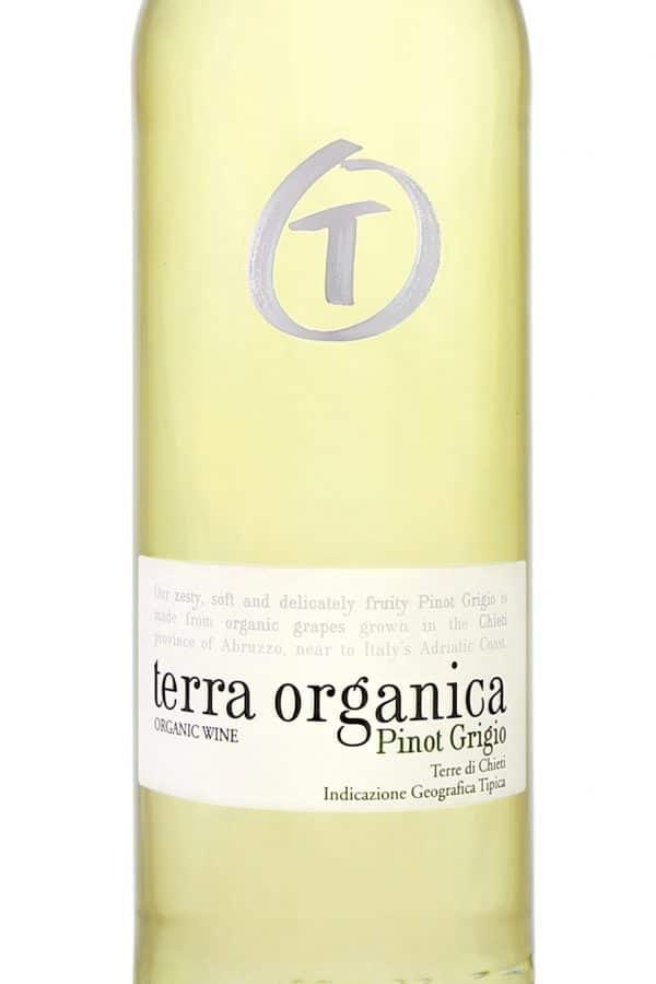 Terra Organica Pinot Grigio close up of label
